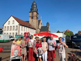 SPD Kahl mit Tobias Wüst Wochenmarkt Kahl